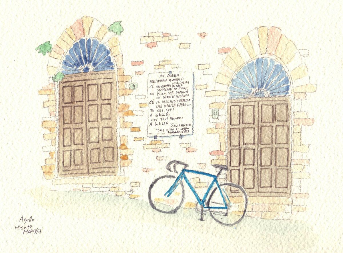 Agello 自転車 トスカーナの小さな町