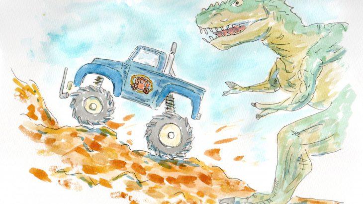 ティラノサウルスVS1/12タミヤRCミッドナイトパンプキン