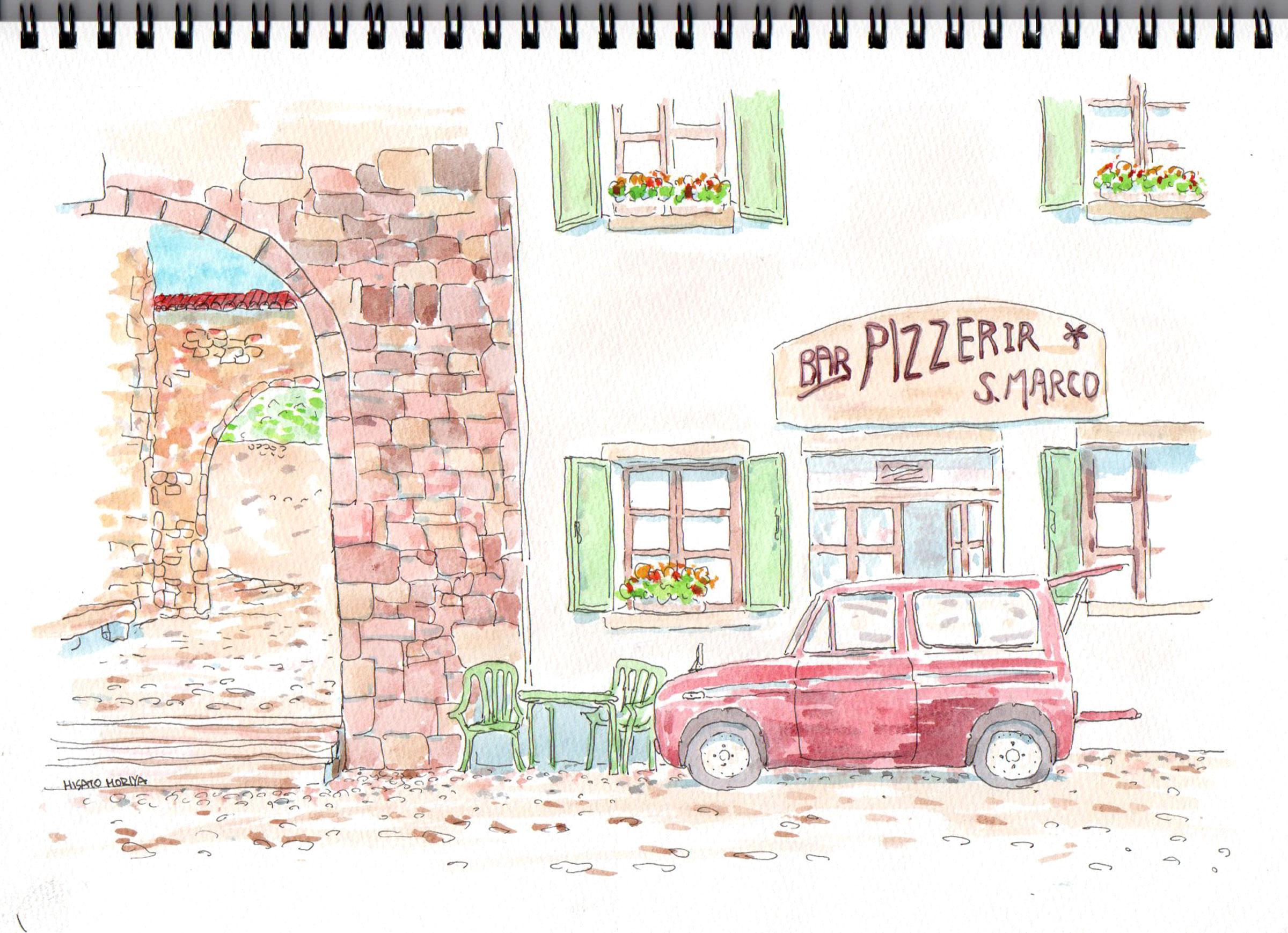 トスカーナのピザ屋さん?とポーターバン