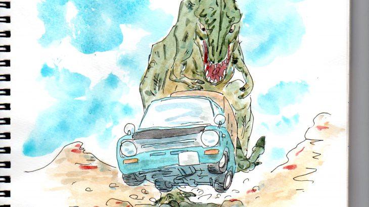 ポーターとティラノサウルス