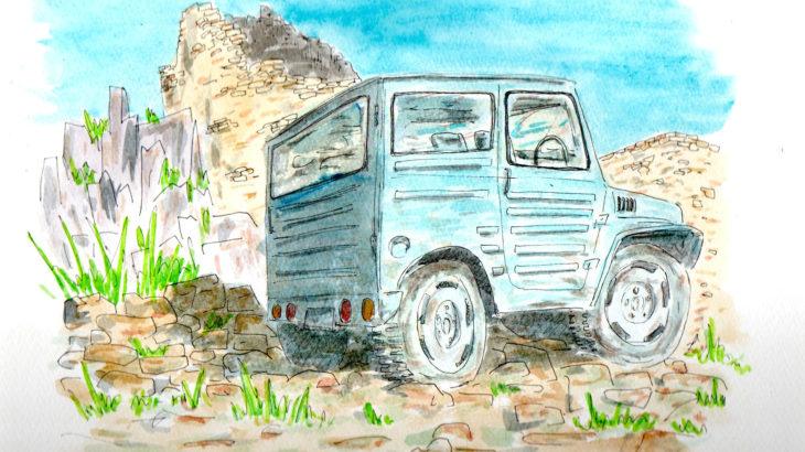 スペイン 北東部の山中 ジムニー LJ20 バン Jimny