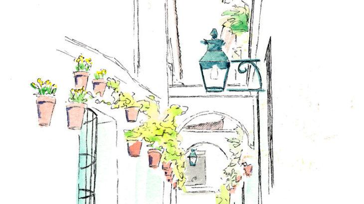 【大人の塗り絵 無料】初心者むけ アンダルシア地方の風景