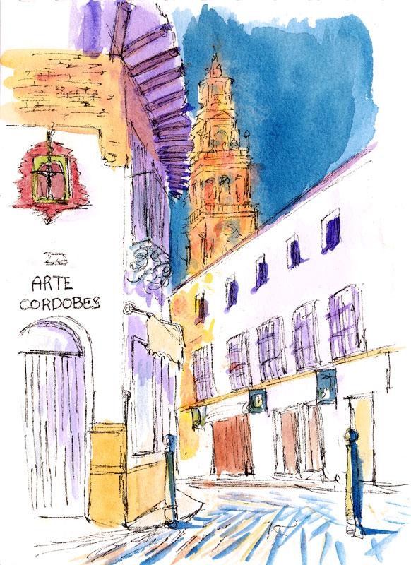 【大人の塗り絵 無料】スペインの世界遺産 コルドバの大聖堂